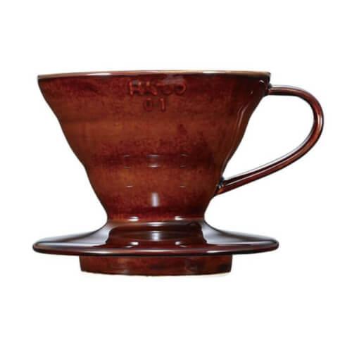 Hario V60-01 porcelán hnedý