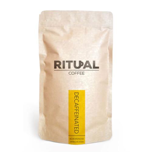Bezkofeinová zrnková káva